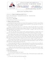 Báo cáo thường niên năm 2008 - Công ty Cổ phần Thủy điện Nà Lơi