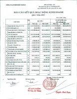 Báo cáo tài chính quý 1 năm 2011 - Công ty Cổ phần Kim khí Thành phố Hồ Chí Minh