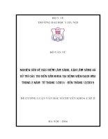 NGHIÊN cứu về đặc điểm lâm SÀNG, cận lâm SÀNG và xử TRÍ các TAI BIẾN sản KHOA tại BỆNH VIỆN BẠCH MAI TRONG 2 năm  từ THÁNG 12014   đến THÁNG 122015