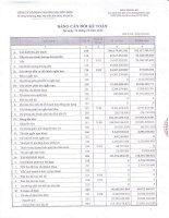 Báo cáo tài chính công ty mẹ quý 4 năm 2014 - Công ty Cổ phần Thương mại Hóc Môn