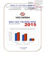 Báo cáo thường niên năm 2015 - Công ty Cổ phần Hải Minh