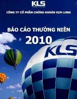 Báo cáo thường niên năm 2010 - Công ty Cổ phần Chứng khoán Kim Long