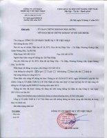 Nghị quyết Đại hội cổ đông thường niên - Công ty cổ phần Thiết bị Y tế Việt Nhật