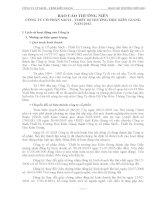 Báo cáo thường niên năm 2011 - Công ty Cổ phần Sách - Thiết bị Trường học Kiên Giang