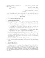 Báo cáo thường niên năm 2009 - CTCP Dược phẩm 2-9 TP. Hồ Chí Minh