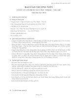 Báo cáo thường niên năm 2012 - Công ty Cổ phần May Phú Thịnh - Nhà Bè