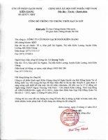 Nghị quyết Hội đồng Quản trị - Công ty Cổ phần Gạch ngói Kiên Giang