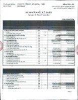 Báo cáo tài chính công ty mẹ quý 3 năm 2011 - Công ty Cổ phần Hữu Liên Á Châu
