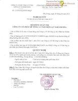 Nghị quyết Hội đồng Quản trị - Công ty Cổ phần Bê tông Ly tâm Điện lực Khánh Hòa