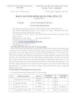 Báo cáo tình hình quản trị công ty - Công ty Cổ phần Phát triển Nhà và Sản xuất Vật liệu xây dựng Chí Linh