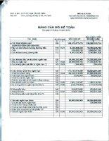 Báo cáo tài chính quý 4 năm 2012 - Công ty Cổ phần Vận tải Hà Tiên