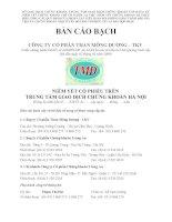 Bản cáo bạch - Công ty cổ phần Than Mông Dương - Vinacomin