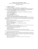 Báo cáo thường niên năm 2013 - Công ty Cổ phần Bến xe Tàu phà Cần Thơ