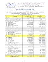 Báo cáo tài chính quý 3 năm 2009 - Công ty Cổ phần Hợp tác Lao động với Nước ngoài