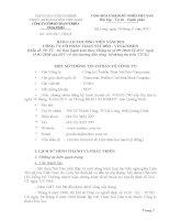 Báo cáo thường niên năm 2011 - Công ty cổ phần Than Núi Béo – Vinacomin
