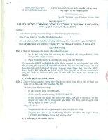 Nghị quyết đại hội cổ đông ngày 03-10-2009 - Công ty Cổ phần Tập đoàn Hoa Sen
