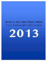 Báo cáo thường niên năm 2013 - Công ty Cổ phần Hữu Liên Á Châu