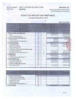 Báo cáo tài chính hợp nhất quý 3 năm 2011 - Công ty Cổ phần Hữu Liên Á Châu
