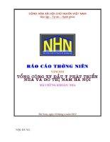 Báo cáo thường niên năm 2011 - Tổng Công ty Đầu tư Phát triển Nhà và Đô thị Nam Hà Nội