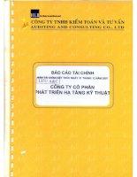 Báo cáo tài chính năm 2007 (đã kiểm toán) - Công ty Cổ phần Phát triển Hạ tầng Kỹ thuật