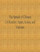 The spread of chinese civilization  japan, korea, and vietnam