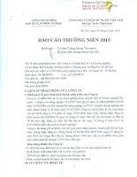 Báo cáo thường niên năm 2015 - Công ty Cổ phần Bao bì và In Nông nghiệp