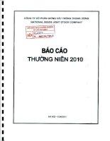 Báo cáo thường niên năm 2010 - Công ty cổ phần Giống cây trồng Trung ương