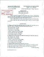 Nghị quyết Hội đồng Quản trị ngày 5-4-2011 - Công ty Cổ phần Cao su Hòa Bình