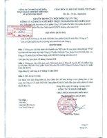 Nghị quyết Hội đồng Quản trị ngày 3-12-2010 - Công ty Cổ phần Chế biến Thực phẩm Kinh Đô Miền Bắc