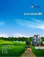 Báo cáo thường niên năm 2012 - Công ty Cổ phần Đầu tư Kinh doanh nhà Khang Điền