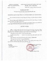 Nghị quyết Hội đồng Quản trị - Công ty Cổ phần Điện lực Khánh Hòa