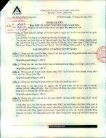 Nghị quyết Đại hội cổ đông thường niên - Công ty Cổ phần Đầu tư Địa ốc Khang An