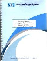 Báo cáo tài chính năm 2014 (đã kiểm toán) - Công ty cổ phần Xây dựng Công trình 510