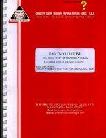 Báo cáo tài chính năm 2013 (đã kiểm toán) - Công ty cổ phần Tập đoàn Thiên Quang