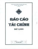 Báo cáo tài chính quý 3 năm 2011 - Công ty Cổ phần Đầu tư Xây dựng Hồng Phát