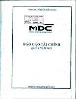 Báo cáo tài chính quý 2 năm 2011 - Công ty Cổ phần miền Đông