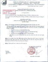 Nghị quyết Hội đồng Quản trị ngày 06-1-2010 - Công ty Cổ phần Đầu tư - Kinh doanh nhà