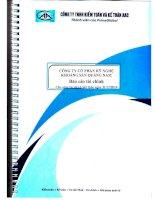 Báo cáo tài chính công ty mẹ năm 2014 (đã kiểm toán) - Công ty Cổ phần Kỹ nghệ Khoáng sản Quảng Nam