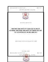 TÌNH HÌNH TĂNG HUYẾT áp tự KHAI báo và ỨNG xử về PHÒNG, CHỮA BỆNH TĂNG HUYẾT áp ở NGƯỜI CAO TUỔI tại 3 xã HUYỆN BA vì, hà nội, năm 2014