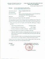 Nghị quyết Hội đồng Quản trị ngày 01-07-2011 - Công ty Cổ phần Licogi 166