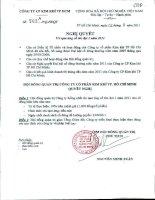 Nghị quyết Hội đồng Quản trị ngày 02-08-2011 - Công ty Cổ phần Kim khí Thành phố Hồ Chí Minh