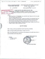 Nghị quyết Hội đồng Quản trị ngày 5-1-2010 - Công ty Cổ phần Cơ điện và Xây dựng Việt Nam