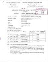 Báo cáo tình hình quản trị công ty - Công ty cổ phần Cấp nước Quảng Bình