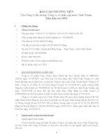 Báo cáo thường niên năm 2012 - Công ty cổ phần Cấp nước Ninh Thuận
