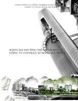 Báo cáo thường niên năm 2011 - Công ty Cổ phần Xi Măng Hà Tiên 1