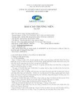Báo cáo thường niên năm 2009 - Công ty Cổ phần Tập đoàn Thủy sản Minh Phú