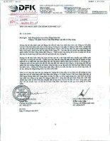 Báo cáo KQKD hợp nhất quý 2 năm 2011 (đã soát xét) - Công ty Cổ phần Cavico Việt Nam Khai thác Mỏ và Xây dựng