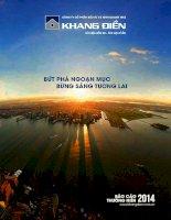 Báo cáo thường niên năm 2014 - Công ty Cổ phần Đầu tư Kinh doanh nhà Khang Điền