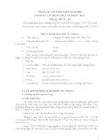 Báo cáo thường niên năm 2009 - Công ty cổ phần Than Núi Béo – Vinacomin