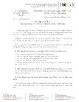 Nghị quyết Đại hội cổ đông thường niên năm 2010 - Công ty cổ phần Du lịch - Dịch vụ Hội An